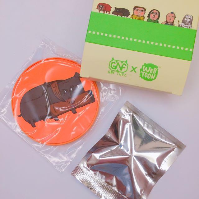 🛫韓國帶回-「心裡的聲音」杯緣子+杯墊盒玩