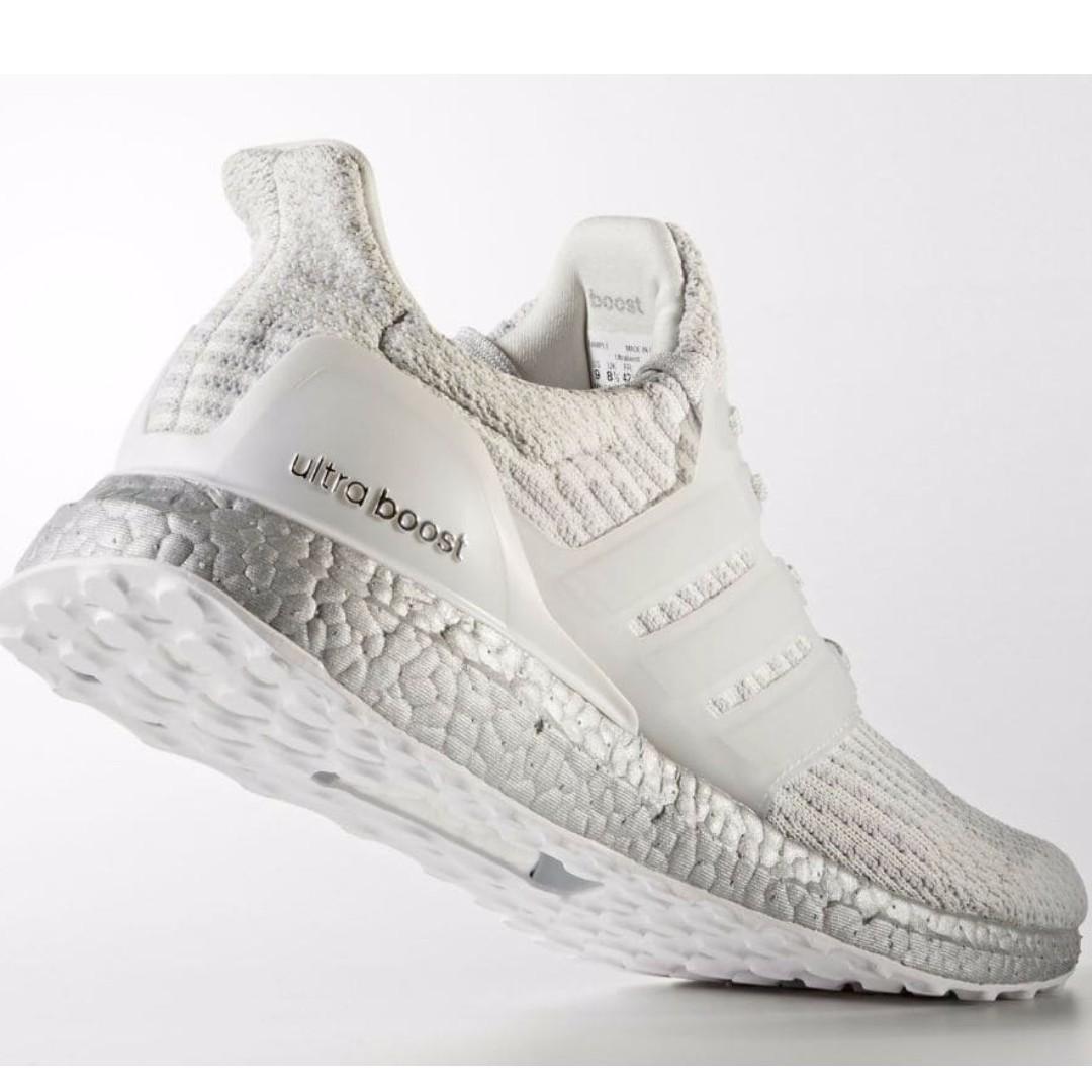 8f6e64fffb5 ✨PO✨ Adidas Unauthorized Authentic Ultra Boost 3.0 Silver White ...