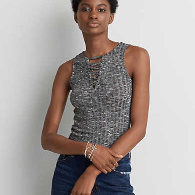 American Eagle Rubbed Cut-out Tank
