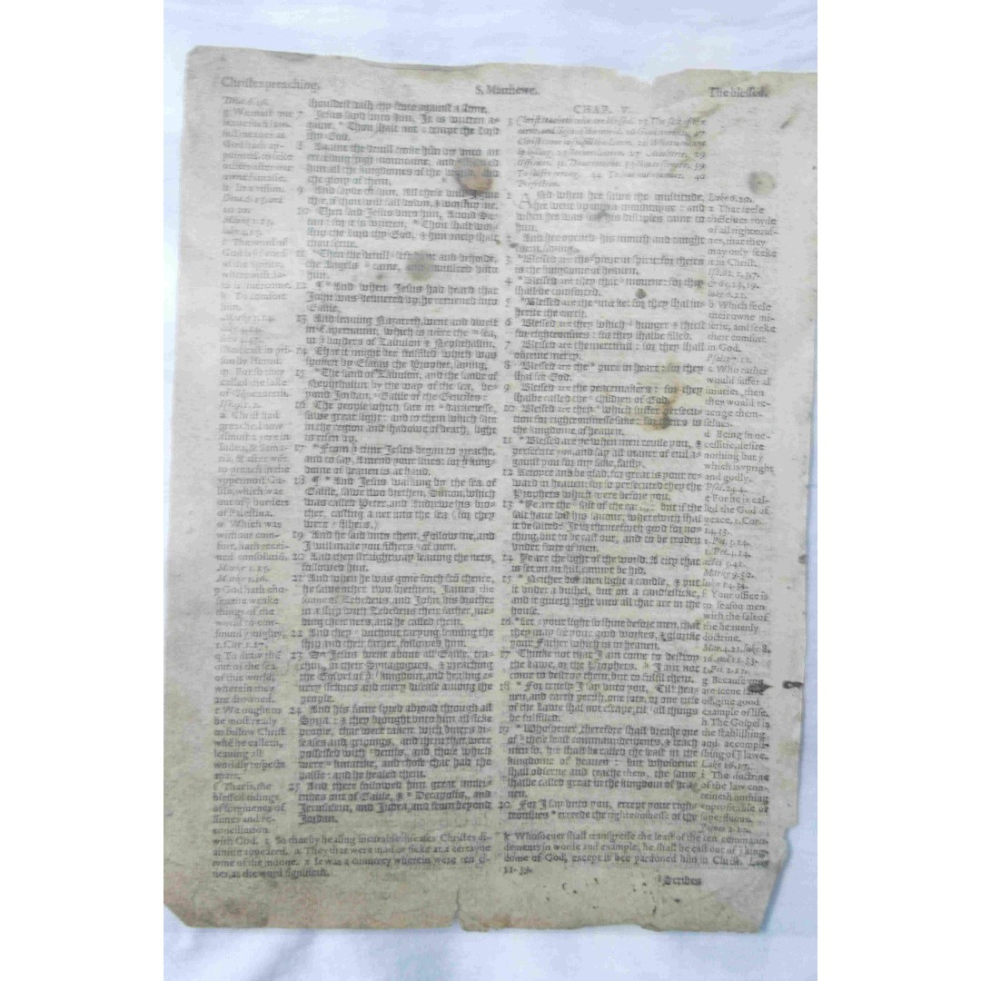 Antique - Bible - Leaves - Clearance