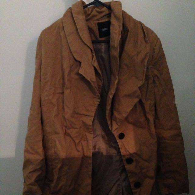 Asos Brown Coloured Trench Coat
