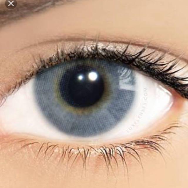Authentic Solotica Hidrocor Graphite Prescription Contract Lenses -1:25 For Both Eye