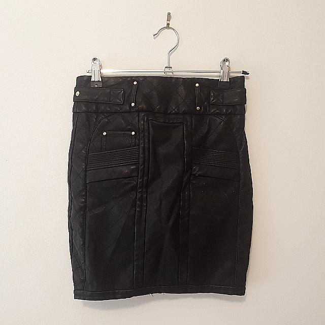 Bardot Pleather Pencil Skirt