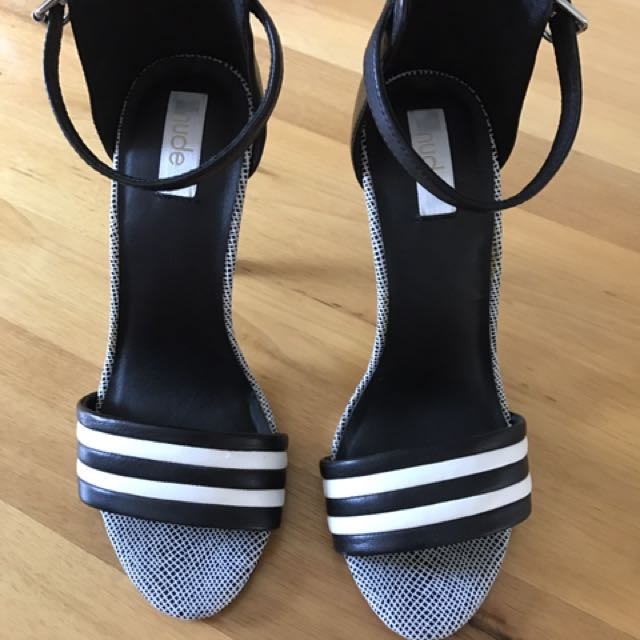 Black & White Heels By Nude