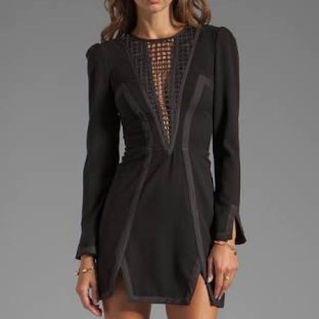Black Finders Keepers Long Sleeve Dress. Medium.