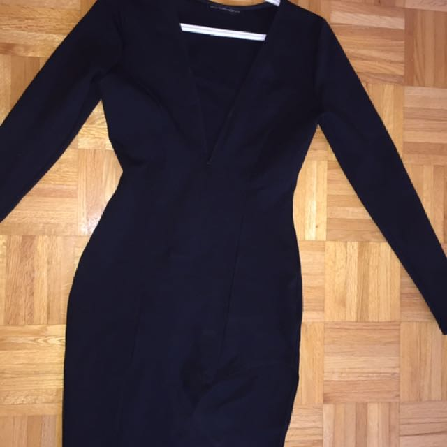 Black Long Sleeved Dress