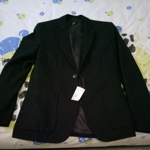 Black Blazer Wool H&M Original
