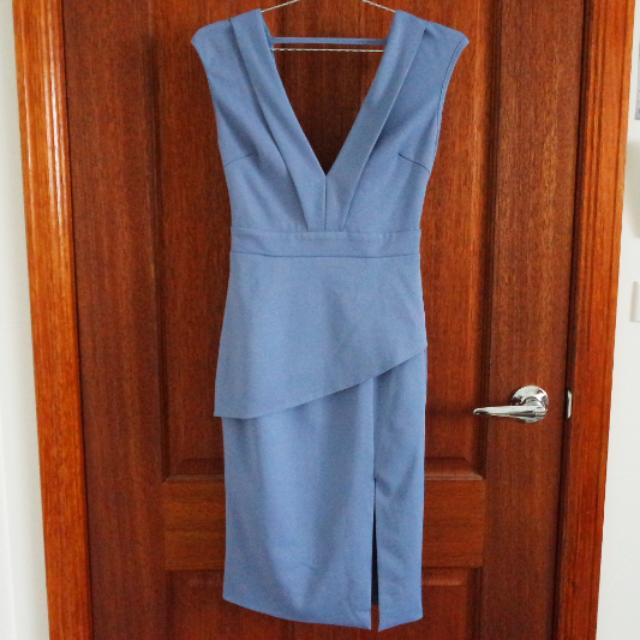 Blue Dress With Tie-up Back