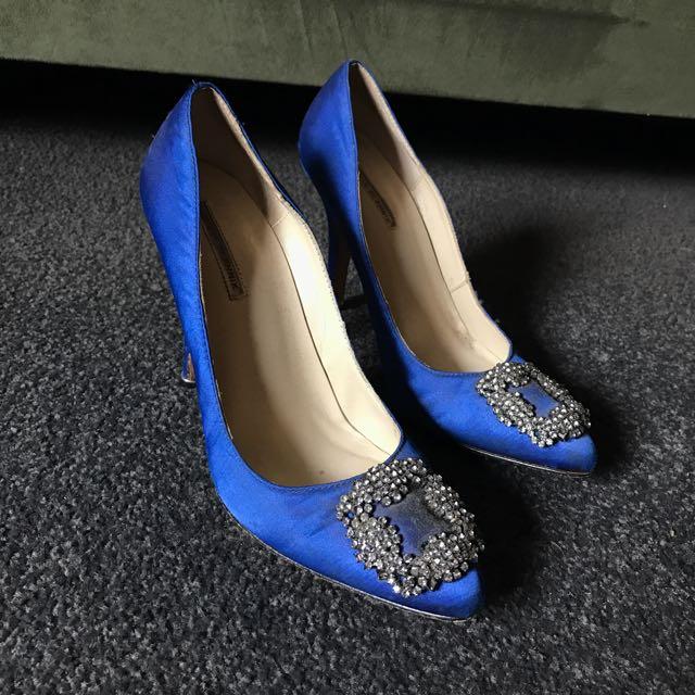 Blue 'Sex In The City' Stiletto
