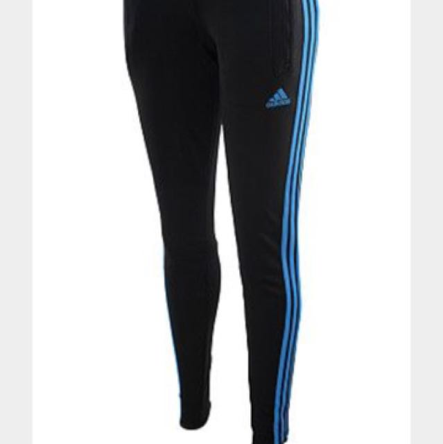 Blue striped adidas sports pants