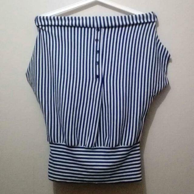 Blue Stripes Blouse 💕