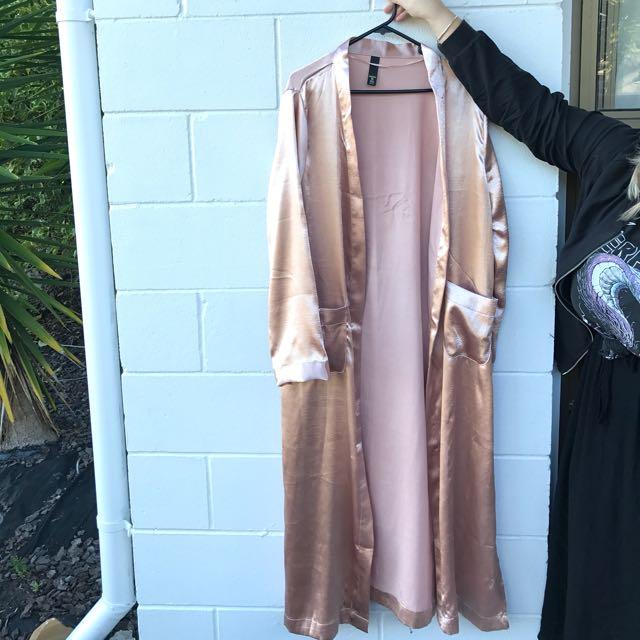 Blush Pink Silk Robe