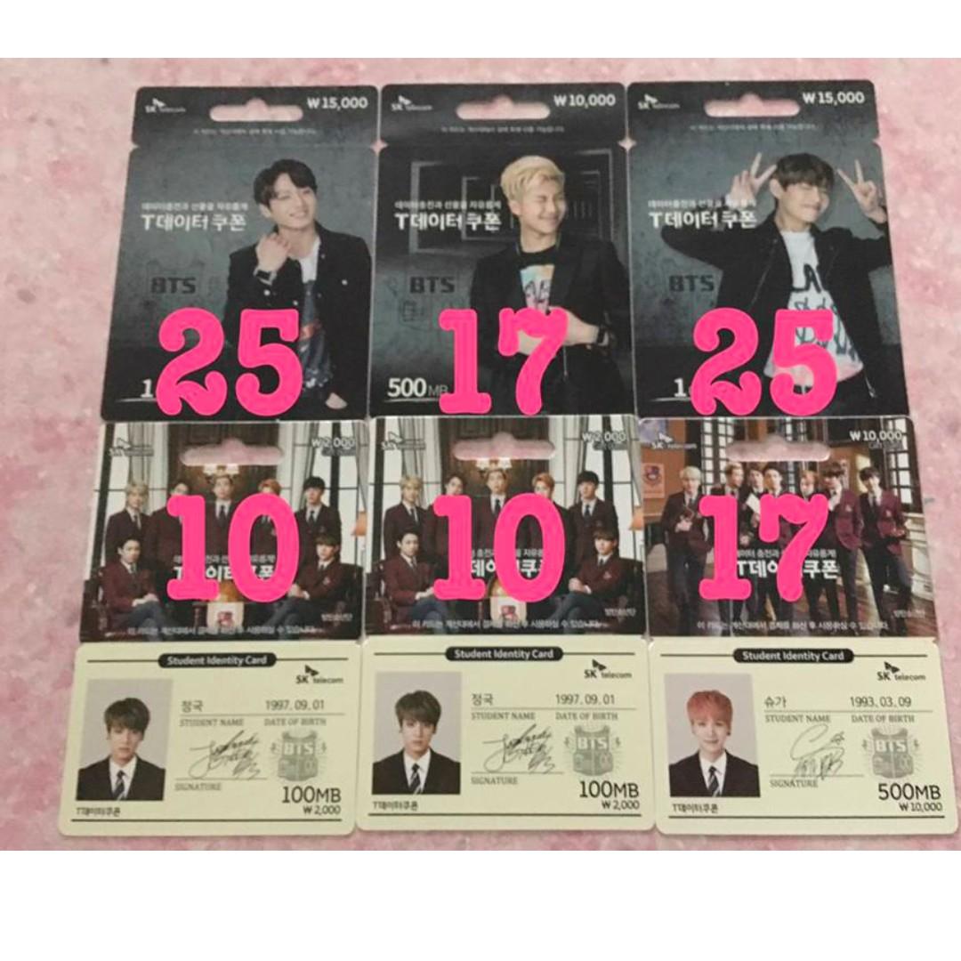 BTS SK Data Card