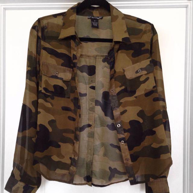 Chiffon Camouflage Shirt
