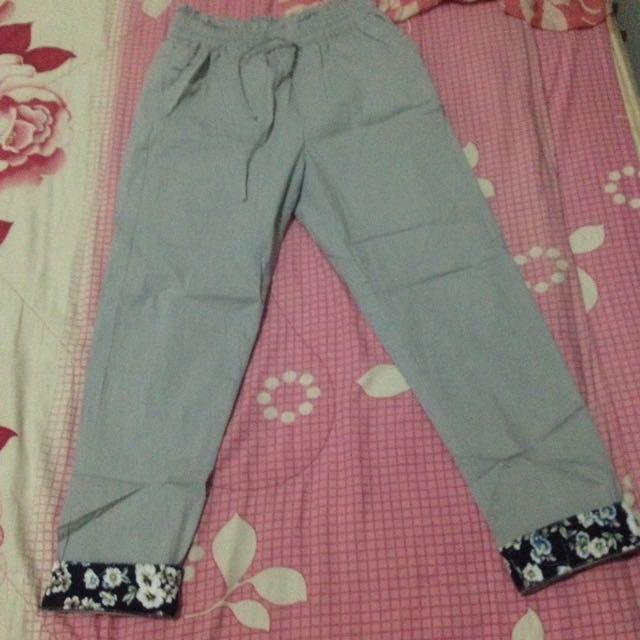 Cotton Pants Motif Floral