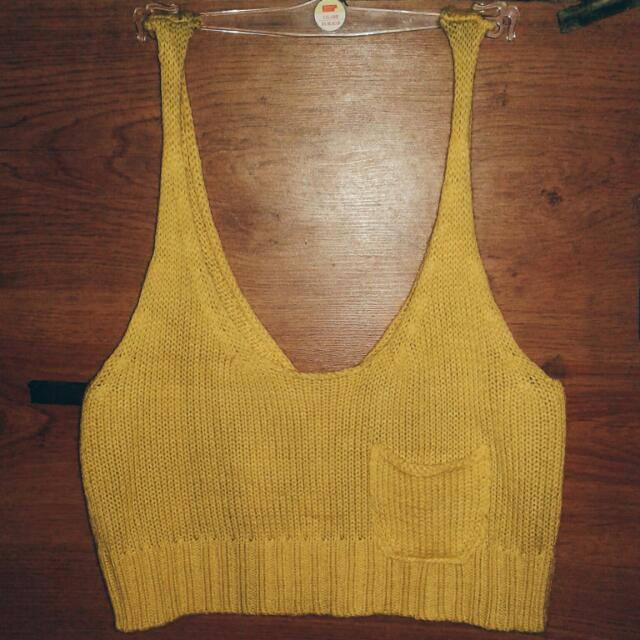 Crochet Yellow Shirt (Crop Top)