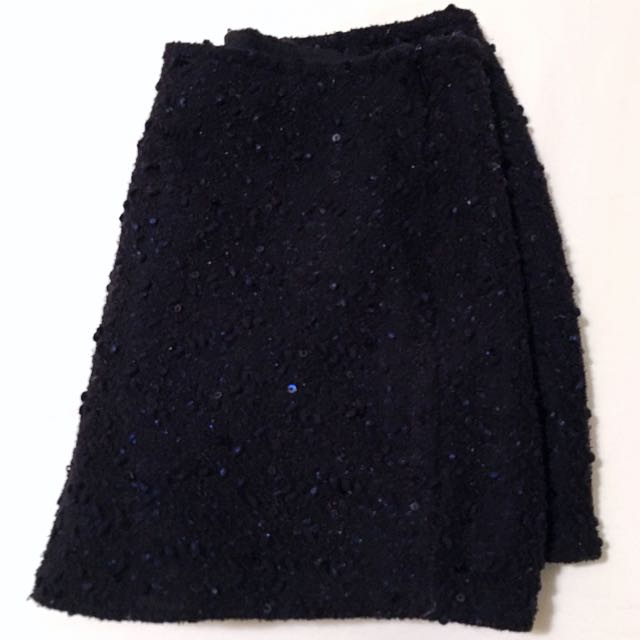 Dark Blue Shorts With Sequins