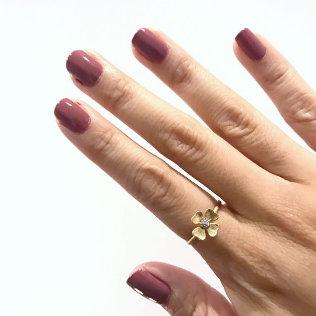 Delicate Silver And Gold Floral Flower Ring