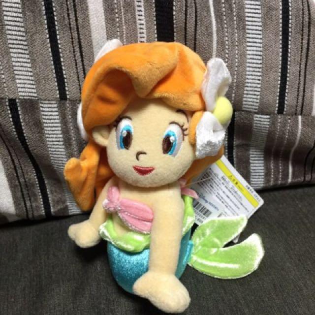 全新Disney日本東京迪士尼Q版小美人魚玩偶娃娃