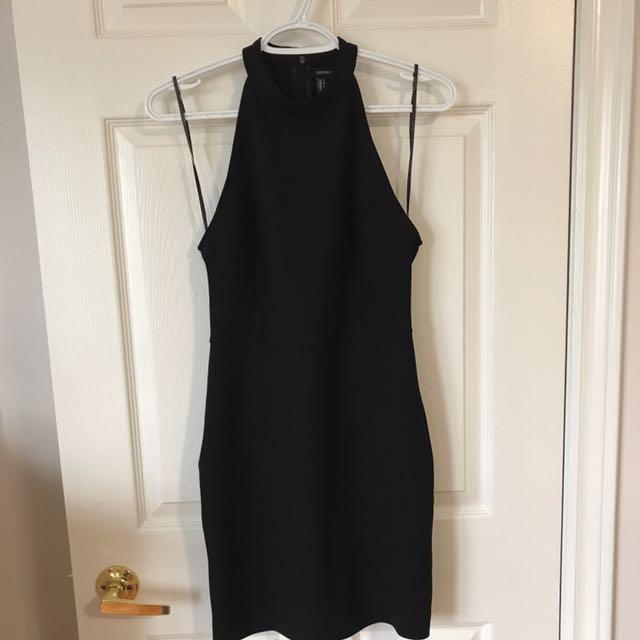 F21 Sleeveless Highneck Bodycon Dress