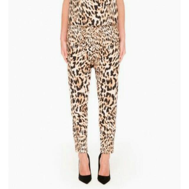 e1b42dadba9a FINDERS KEEPERS Underpass Pants Leopard Animal Print Drop Crotch Peg ...