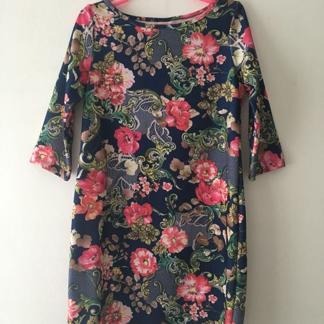 Floral Long Sleeved Dress