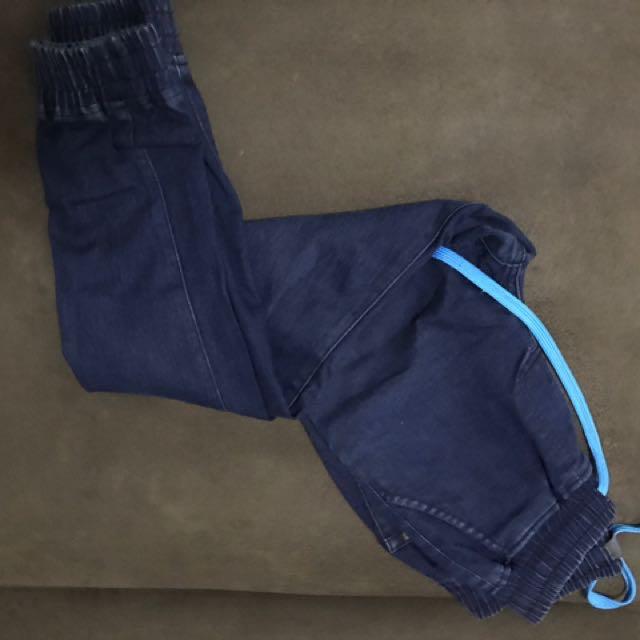 Folded and hung jogger pants