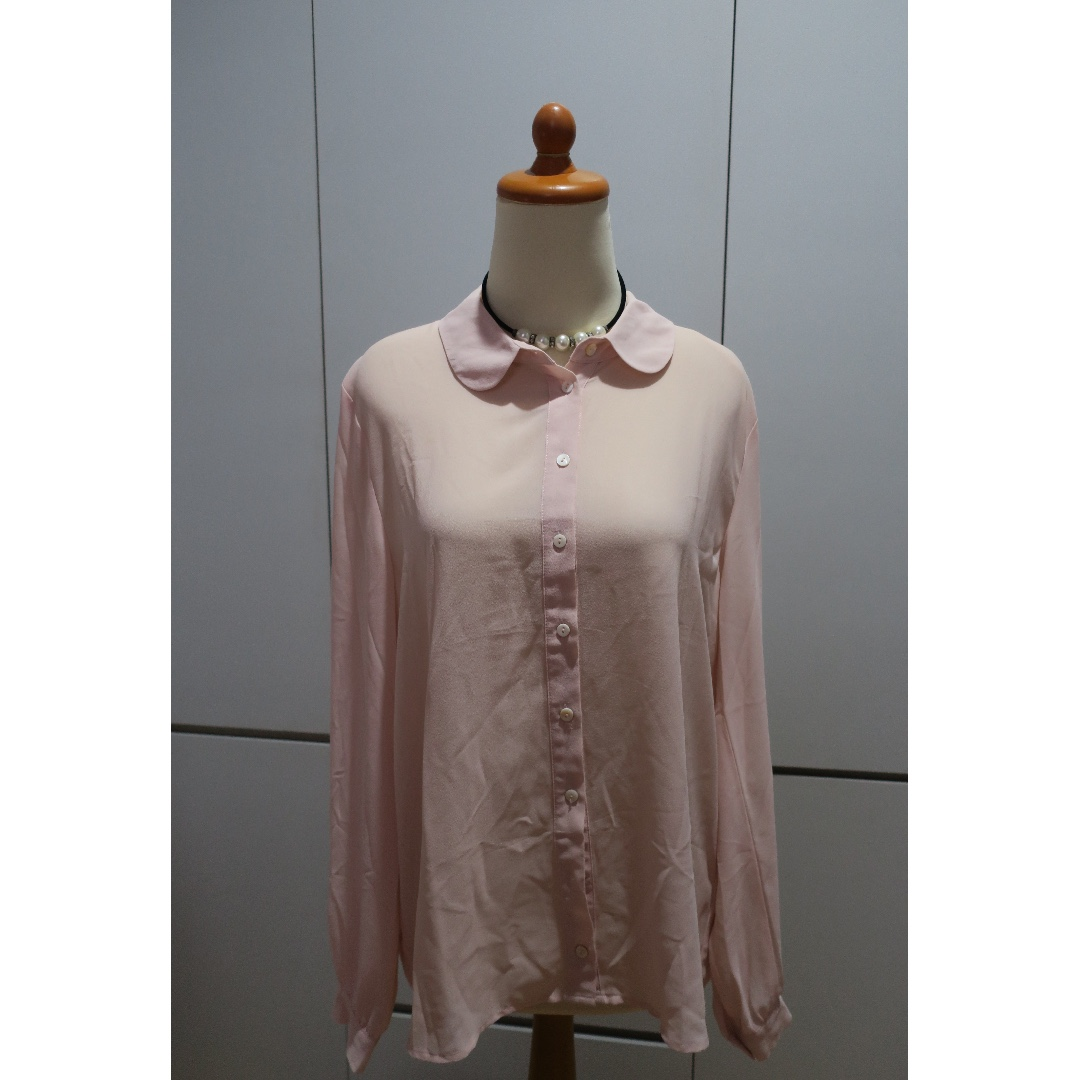 Forever21 Soft Pink Long Blouse