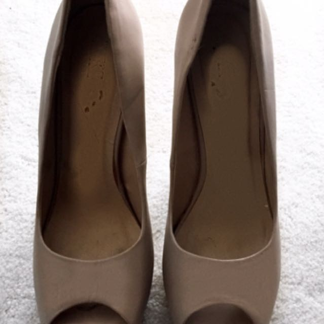 Forever 21 Nude Open Toe Shoes