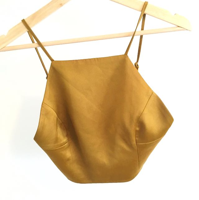 Gold Crop Top from Bardot