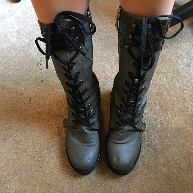 Gothic Lace Up Boots