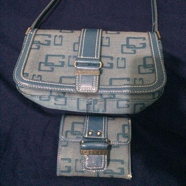 Guess Bag and Wallet Set