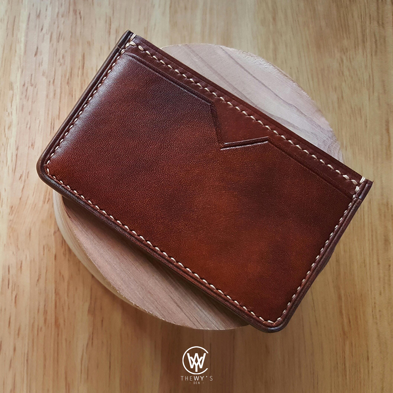 Handmade Genuine Full Grain Leather Card Holder  Handcrafted
