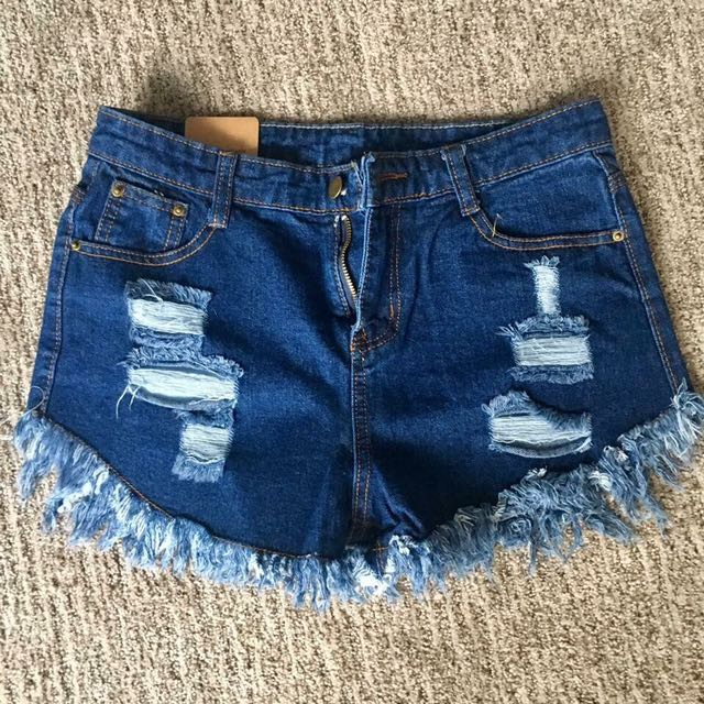 High-Waisted Jeans Short Shorts