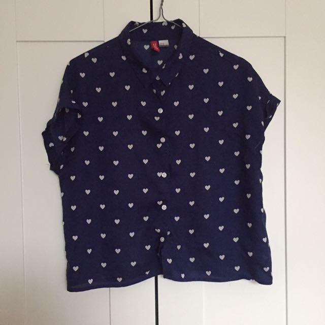 [h&m] cropped heart shirt
