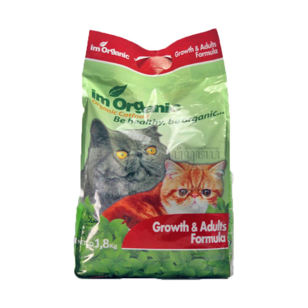 IM Organic Growth and Adults Formula Cat Food Makanan Kucing IMO GA 1,8 KG