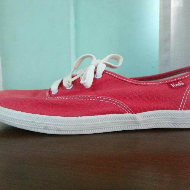 Keds Red Women's Champion Oxford Sneakers