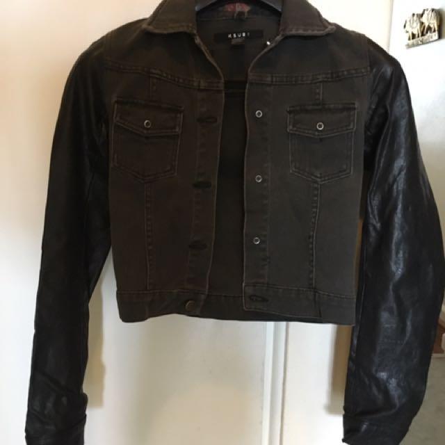 Ksubi Denim/Leather Jacket