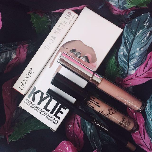 Kylie Lip Kit (Maliboo) & ColourPop Ultra Matte Lip (Times Square)