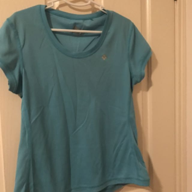 Ladies Blue Gym T Shirt Top