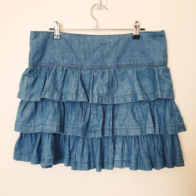 Layered Denim Skirt Size 14