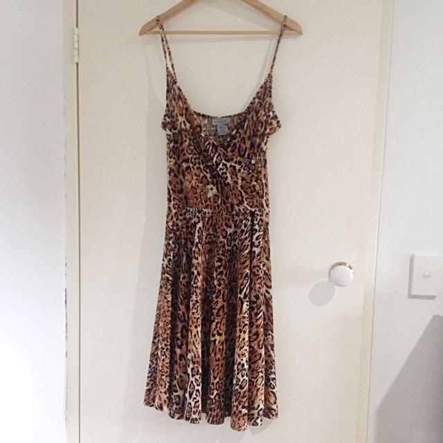 Leopard Print Summer Dress