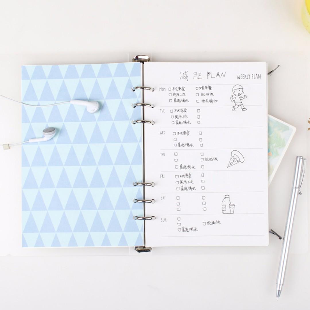 Loose Lock A5 Berwarna Price List Of Online Shop Indonesia Mousepad Fantech Mp35 Pack Atau Tanpa Packing Life Is Colorful Leaf Binder Paper Buku Alat Tulis
