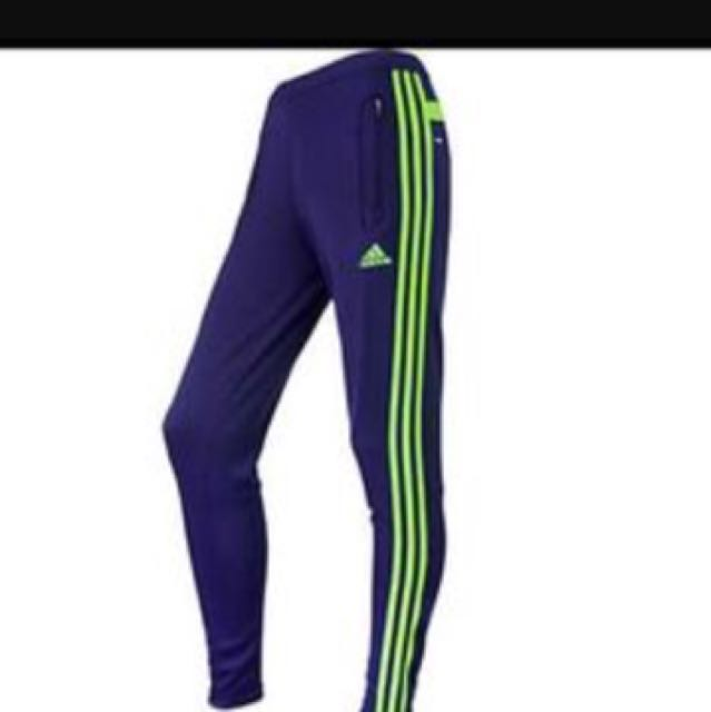 Like green and purple adidas sports pants