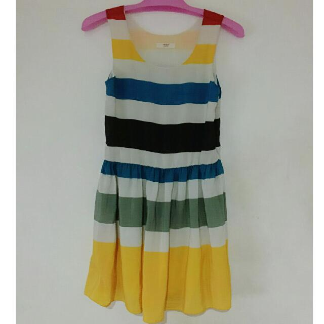 RESERVED: Marc Jacobs Inspired Multi-Color Stripe Dress