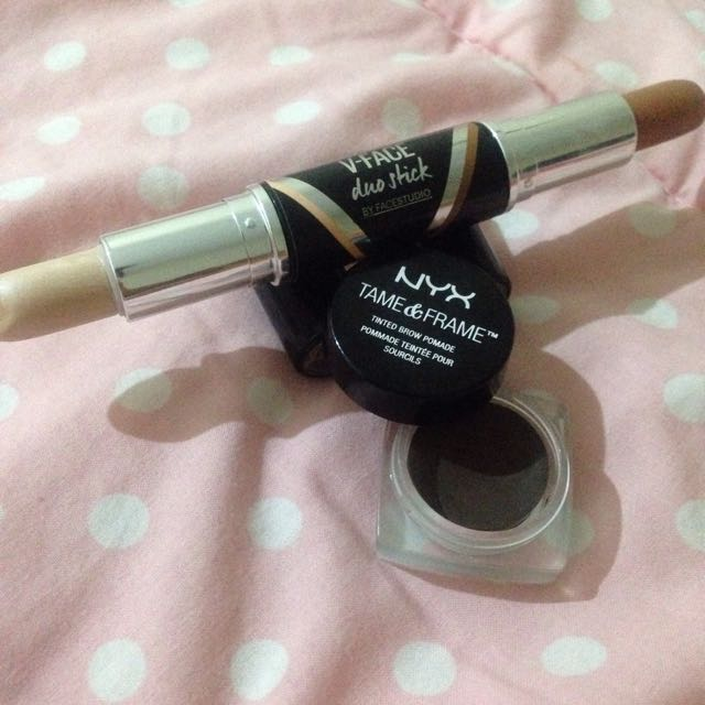 Maybeline V-Faxce Duo Stick & NYX Waterproof eyebrows cream