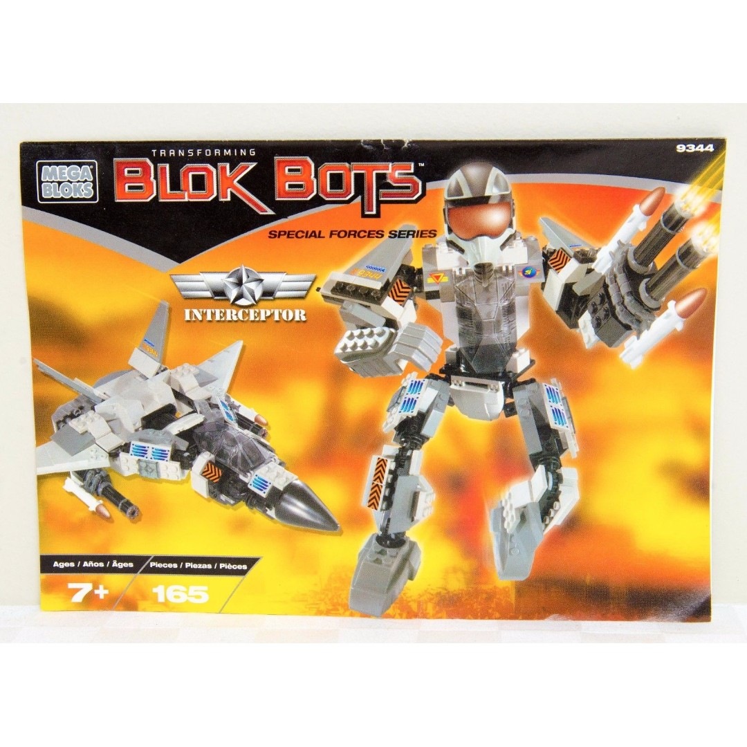 Mega Bloks - Blok Bots Interceptor - Special Forces Series - Instruction Booklet