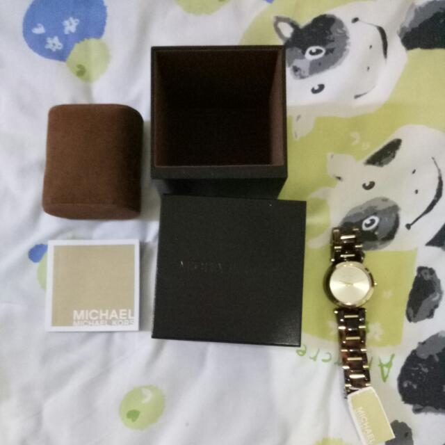 Michael Kors Watches Warna Coklat Keramik Original