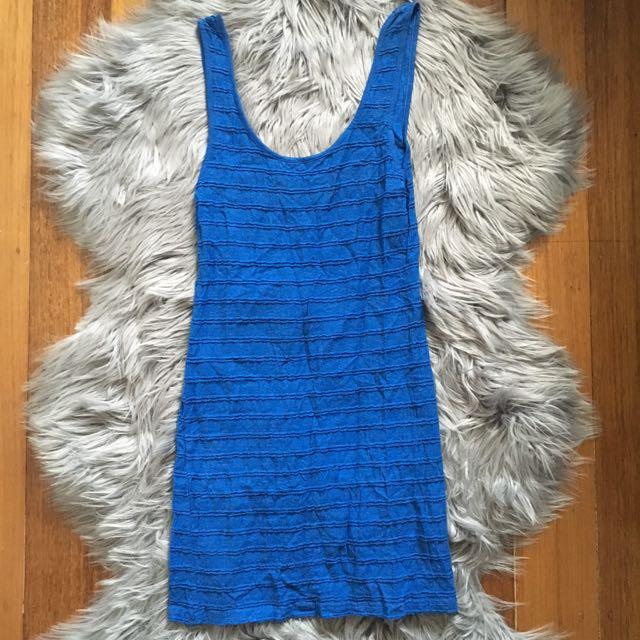 Miss Shop Ribbed Sleeveless Blue Dress (8)