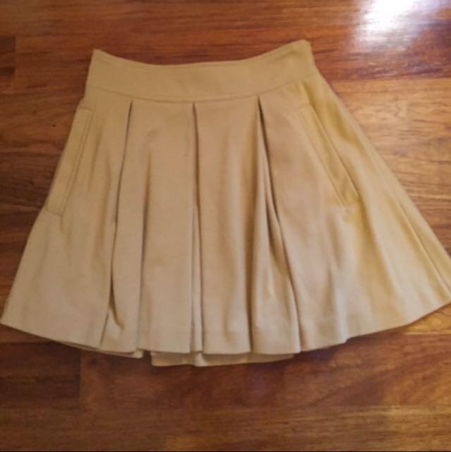 Mustard High Waisted Skirt